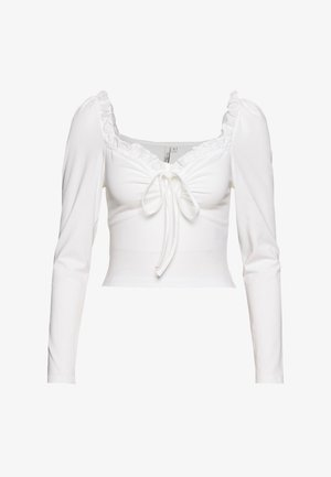 IN LOVE CROP - Topper langermet - white