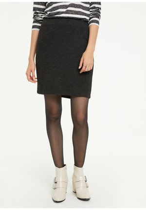 ROCK  - Pencil skirt - dark grey melange