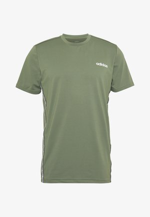 MIX TEE - T-shirt z nadrukiem - legend green/white