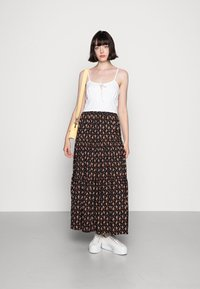 Molly Bracken - LADIES WOVEN SKIRT - Maxi skirt - comanches black - 1