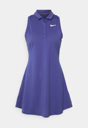 POLO DRESS - Jurken - purple dust/white