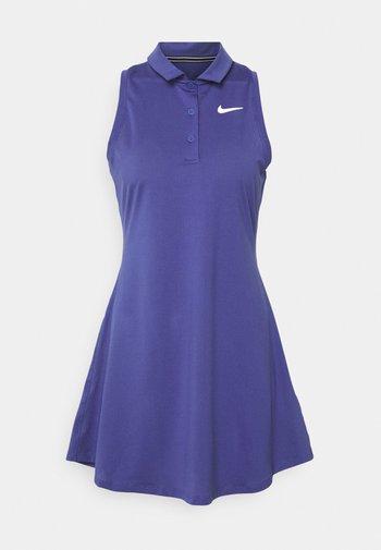 POLO DRESS - Sports dress - purple dust/white