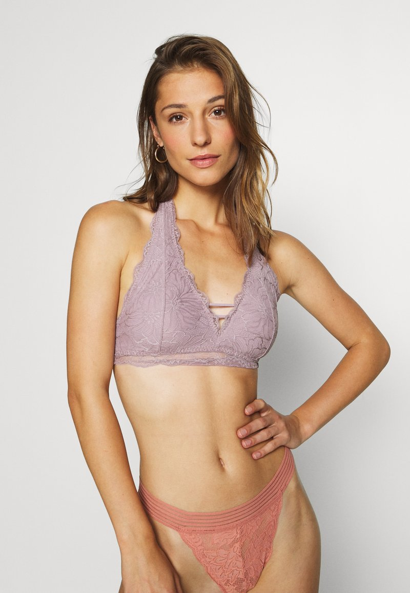 Gilly Hicks - FLORAL HALTER - Triangle bra - pink
