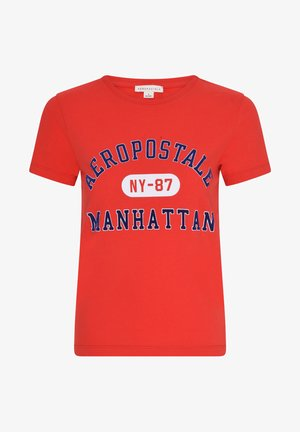 MANHATTAN  - Print T-shirt - red