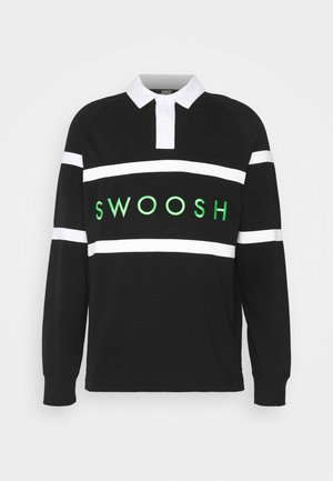 RUGBY - Polo shirt - black/white/green