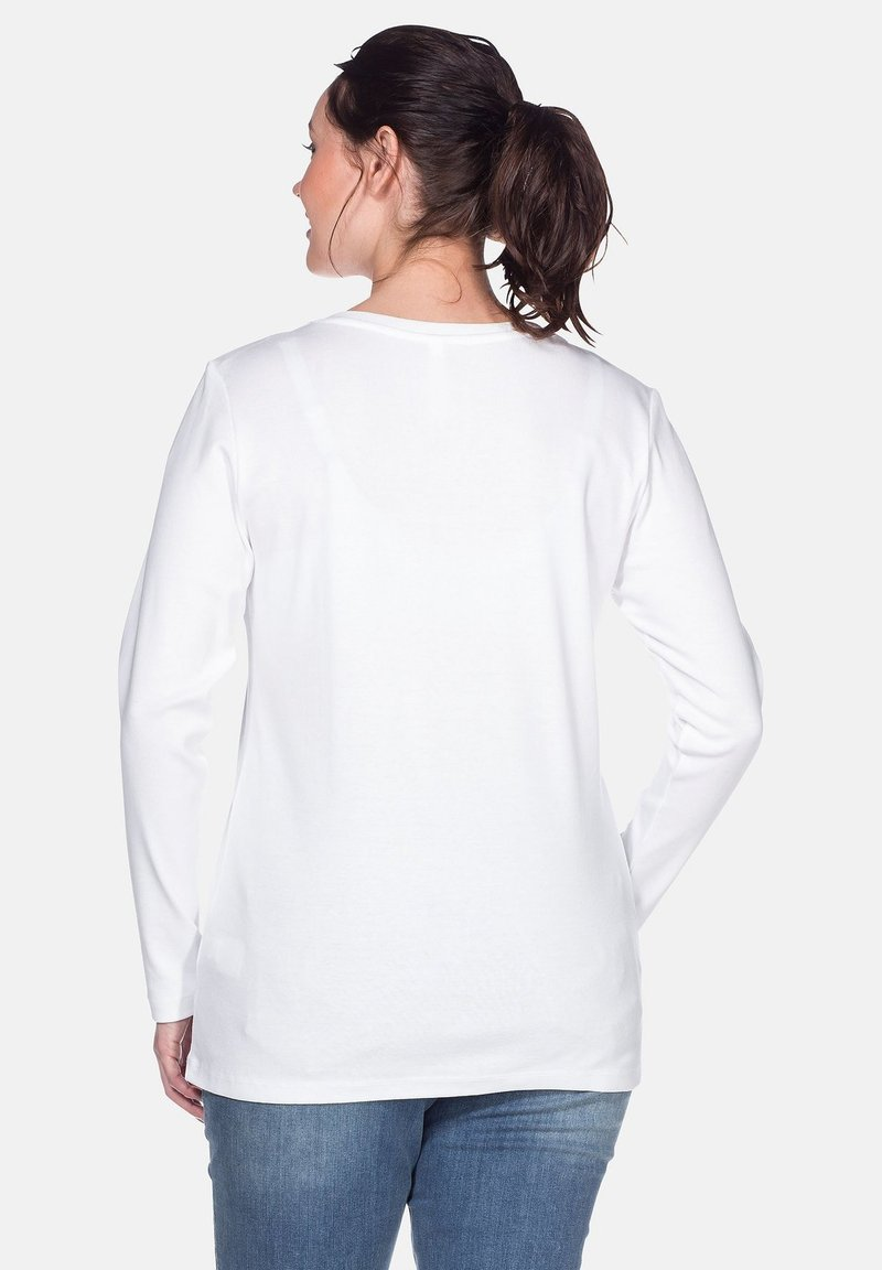 Sheego LONG SLEEVE - Langarmshirt - white/weiß 3oPrTC