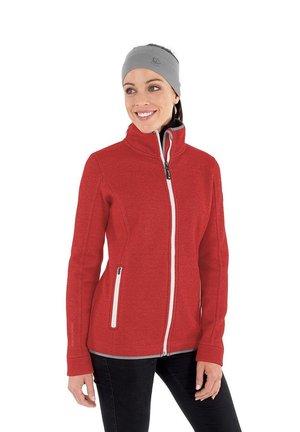 SINA - Sweat à capuche zippé - flammenrot