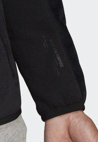 adidas Performance - ADIDAS Z.N.E. FULL-ZIP VELOUR HOODIE - Zip-up hoodie - black - 6