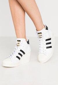 adidas Originals - SUPERSTAR ELLURE - High-top trainers - footwear white/core black/offwhite - 0