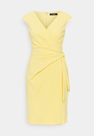 LUXE TECH CREPE DRESS - Cocktail dress / Party dress - beach yellow