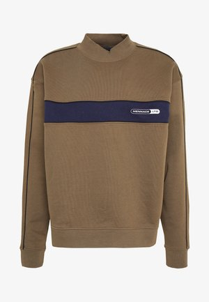 BRANDED FUNNEL NECK PANEL  - Sweatshirt - khaki