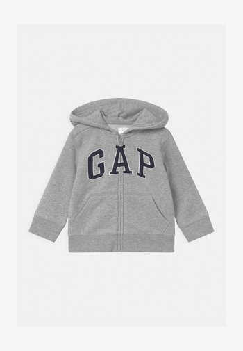 TODDLER BOY LOGO - Zip-up sweatshirt - light heather grey
