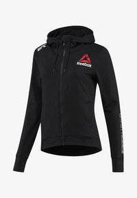 Reebok - UFC FIGHT NIGHT BLANK WALKOUT HOODIE - Zip-up hoodie - black - 0