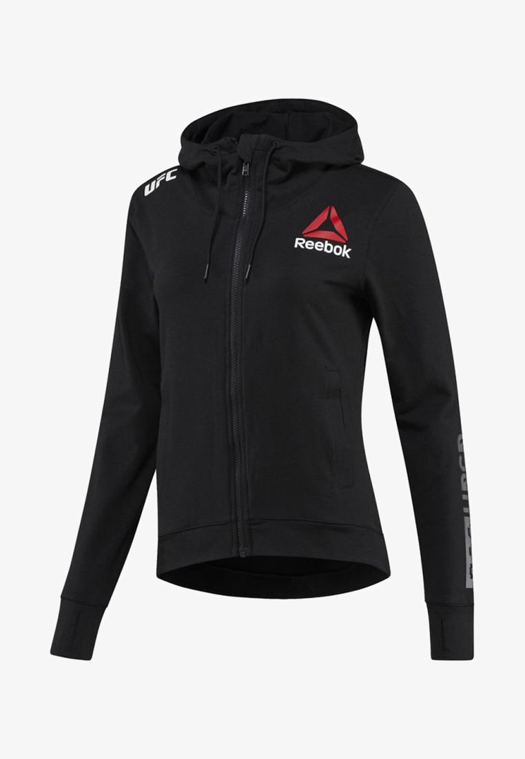 Reebok - UFC FIGHT NIGHT BLANK WALKOUT HOODIE - Zip-up hoodie - black