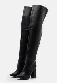 RAID - GRESHA - Kozačky na vysokém podpatku - black - 2