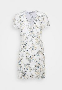 Abercrombie & Fitch - RUFFLE WRAP DRESS  - Kjole - white - 4