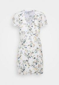 RUFFLE WRAP DRESS  - Day dress - white