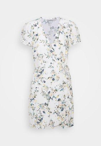 RUFFLE WRAP DRESS  - Vestido informal - white