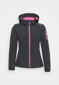 CMP - WOMAN JACKET ZIP HOOD - Giacca softshell - antracite/pink fluo - 3