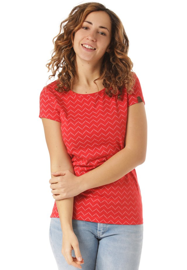 ZIG ZAG - T-shirt con stampa - red