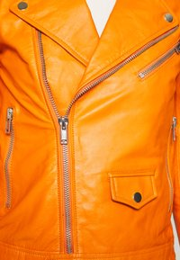 Deadwood - RIVER - Leather jacket - persimmon - 4
