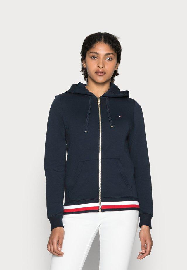 HERITAGE ZIP THROUGH HOODIE - Zip-up sweatshirt - midnight