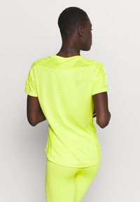 adidas Performance - OWN THE RUN TEE - T-shirt con stampa - acid yellow - 2