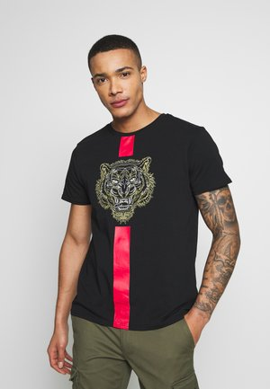 FURY TEE - Print T-shirt - black