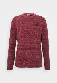 Long sleeved top - brick red space dye
