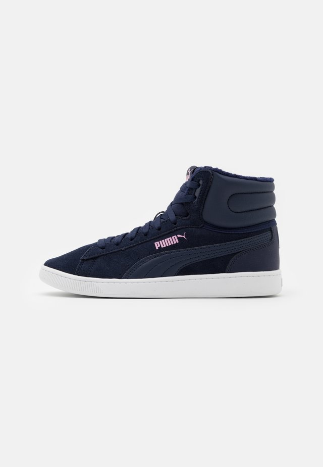 VIKKY MID JR - High-top trainers - peacoat/pale pink/white