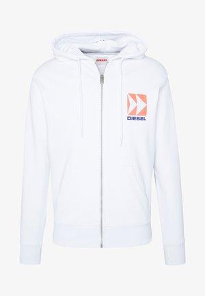 BRANDON - Mikina na zip - white