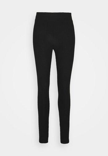 PCRIBBI - Leggings - Trousers - black