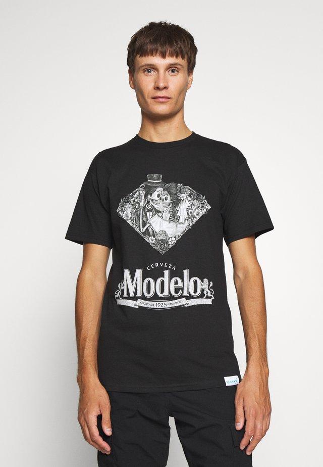 DIA DE LOS MUERTOS TEE - T-shirt imprimé - black
