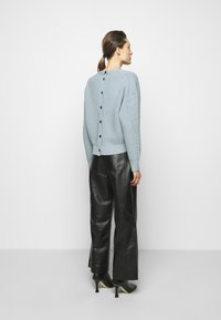 Proenza Schouler White Label - CARDIGAN BUTTON BACK - Cardigan - steel blue - 2