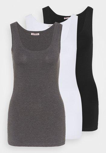 Toppi - black/white/mottled grey