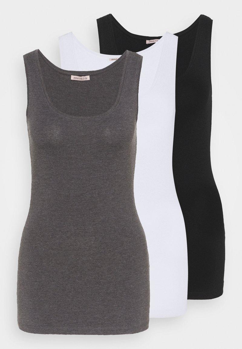 Anna Field Tall - Toppi - black/white/mottled grey