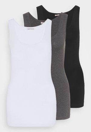 Topper - black/white/mottled grey