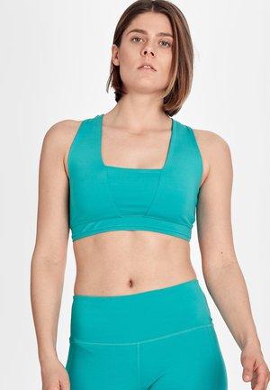 VELLA BRA WOMEN - Medium support sports bra - blue/mint