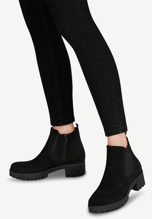 Ankle boots - black suede