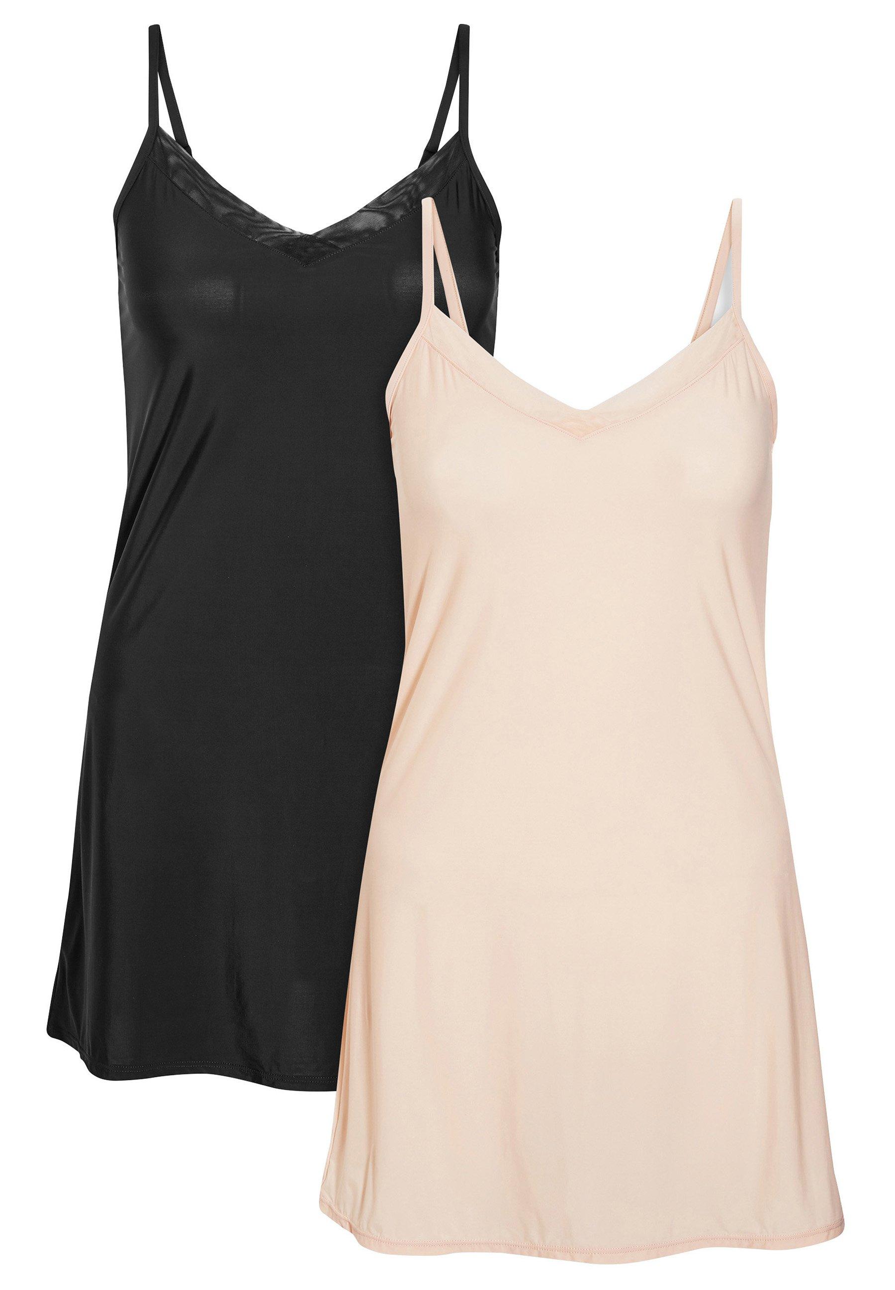 Damen SOFT MICROFIBRE SLIPS TWO PACK - Nachthemd