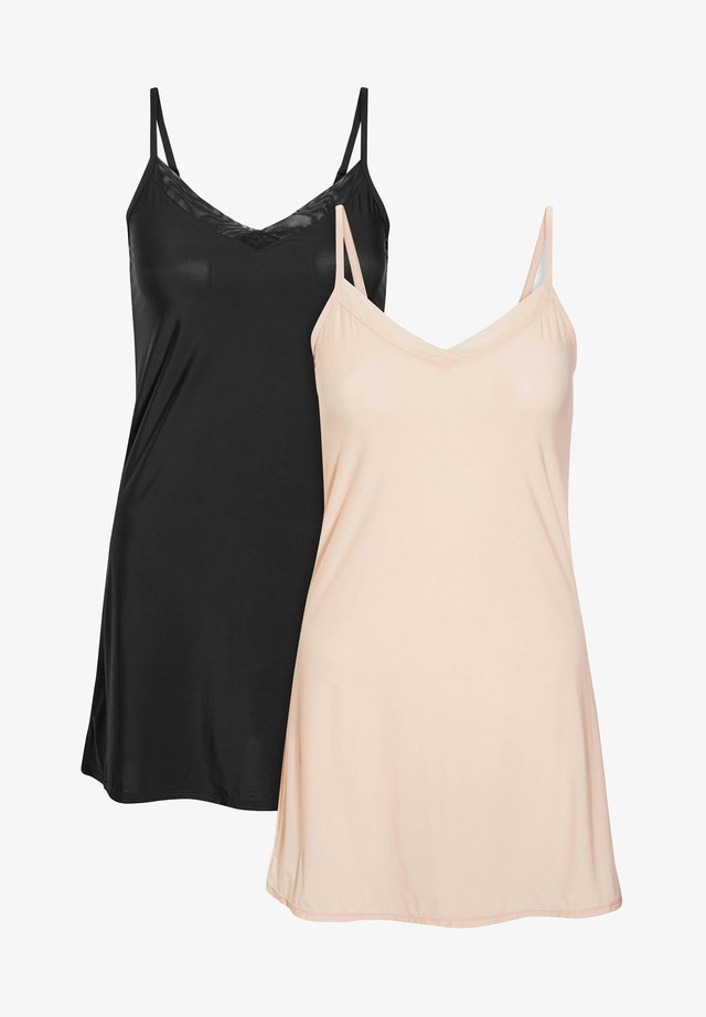 SOFT MICROFIBRE SLIPS TWO PACK - Chemise de nuit / Nuisette - nude