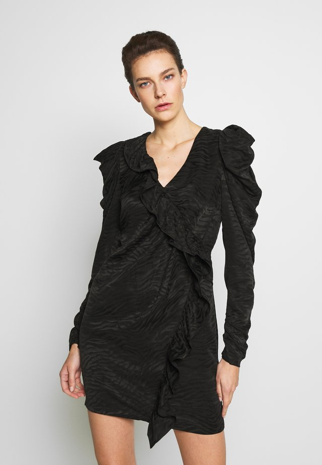 RUBY RUFFLE DRESS - Juhlamekko - black