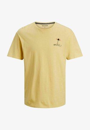 JORVIBES TEE CREW NECK - T-shirt z nadrukiem - sahara sun
