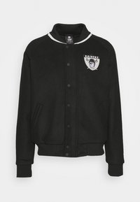 Fanatics - NFL OAKLAND RAIDERS TRUE CLASSICS LETTERMAN JACKET - Klubové oblečení - black - 5