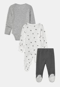 Carter's - PANDA SET UNISEX - Broek - white/black