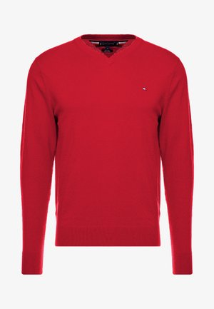 BLEND VNECK - Jumper - hauted red