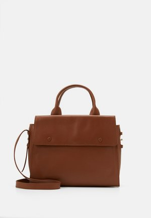 LEATHER - Borsa a mano - cognac