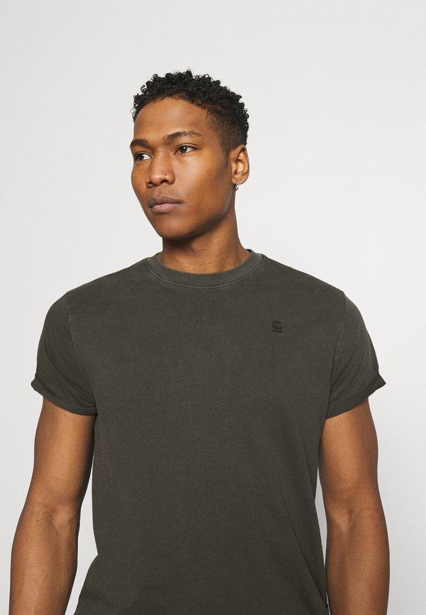 G-Star LASH - T-shirt basic - carbid/khaki Odzież Męska AKZM
