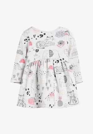 GREY PRINTED SWEAT DRESS (0MTHS-2YRS) - Vapaa-ajan mekko - grey