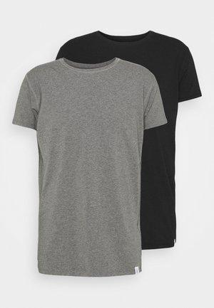LOUNGE TEE 2 PACK - Haut de pyjama - black/grey marl